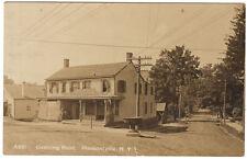 Pleasantville NY - OSSINING ROAD & FOUNTAIN - RPPC Postcard