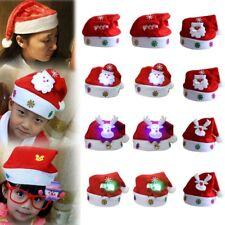 Kids /Adult LED Christmas Hat Santa Claus Reindeer Snowman Xmas Gifts Cap