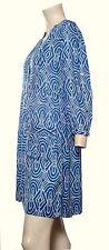 Ex John Rocha Tunic/Dress Blue Print Sizes 8 10 12 14