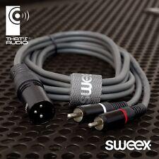 Sweex STAGE Cavo XLR 3-PIN maschio > 2x Phono RCA Spine Maschio Patch > selezionare lunghezza