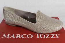 Marco Tozzi Mocasines Bailarina Zapatos de tacón ORO NUEVO