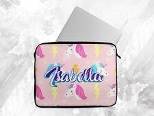 Personalised Any Name Unicorn Laptop Case  Sleeve Tablet Bag Chromebook Gift