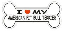 Love My American Pit Bull Terrier Bumper Sticker or Helmet Sticker D2571 Decal