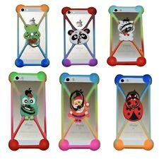 Panda,Hello Kitty,Owl,Love,Santa,Ladybug,Silicone Cell Phone Bumper Cases w Ring