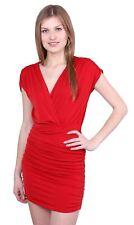 John Zack KARDASHIAN STYLE Czerwona sukienka mini