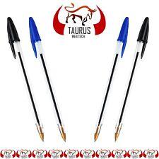 50 Ball Pens Ball Point Biros BLACK BLUE Pen Medium Ballpoint Cheap UK FREE P&P