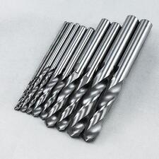 KLOT 10pcs Solid Carbide Drill Bit 1.0mm-3.5mm 2-Flute Straight Shank Twist K10