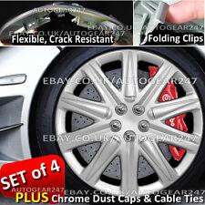 Universal CRACK resistenti, clip PIEGHEVOLE AUTO rifiniture ruota Hub covers Set di 4. BS