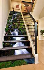 3D Grün Bach 066 Stair Risers Dekoration Fototapete Vinyl Aufkleber Tapete DE