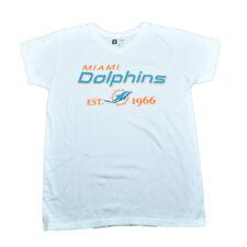 NFL Miami Dolphins Hawk Base da Donna Bianco T-Shirt Vneck Calcio T-Shirt