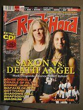 ROCK HARD METAL MAGAZINE 209 - 2004 - SAXON DEATH ANGEL GOTTHARD DIO NAPALM DEAT