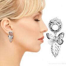 Dangle Plugs Ear Flesh Tunnels Piercing Pair Ear Gauge Stainless Steel Butterfly