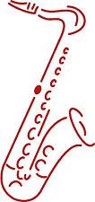 (AP0672 rojo) Aplicación Decoración Saxofón versch. Tamaños