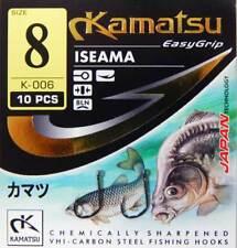 Kamatsu Iseama Carp Tench Coarse Fishing Hooks Match Eyed 50 pcs.All Sizes New