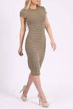 New Stunning Ladies Women's Geometric 3D Knitted Jacquard Midi Dress- Size 8-14