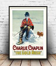 Charlie CHAPLIN Il GOLD RUSH VINTAGE LOCANDINA riproduzione.
