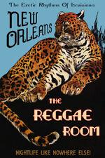 New Orleans Leopard Reggae Music Louisiana Rhythms Vintage Poster Repro FREE S/H