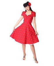 SugarShock Tanisha Herzchen 50er retro Petticoat Rockabilly Kleid