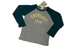 T-shirt bambino Everlast girocollo Jersey melange manica lunga