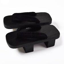 Men's Wooden Japanese Kimono Geta Clogs Flip Flops Thong Sandals Slippers Retro