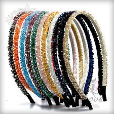 Double Layered Crystal Bead Metal Alice Hairband Headband; Wedding Bridal & Prom