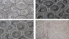 Tessuto Cotone Doppio Spirale Cerchi Astratto Vari Colori Varie Misure Scampoli