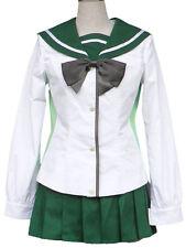 3-Piece Nylon High school of the Dead Fujimi girls Uniform Cosplay Costume sets