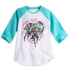 Disney Store Marvel Avengers Superhéroe Raglán Camiseta Niña Talla 9/10 11/12