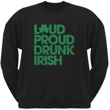 St. Patricks Day - Loud Proud Drunk Irish Black Adult Sweatshirt