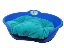 Heavy Duty ROYAL BLU PET letto con color tè verde cuscino UK Fatto Cane o Gatto Cesto