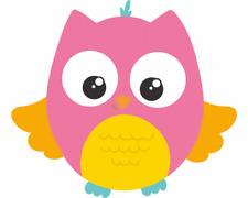 Baby Eule Pink Aufkleber Sticker Autoaufkleber Scheibenaufkleber
