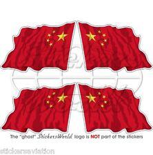 La Cina Cinesi Volanti Bandiera PARAURTI 50 mm-CASCO STICKER x4