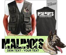 Weste Hundesport MALINOIS Outdoor Stickerei Druck  by Siviwonder + Text bis 3XL
