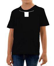 Kids Priest Collar T-Shirt Vicar Religion Fancy Dress Funny Church God