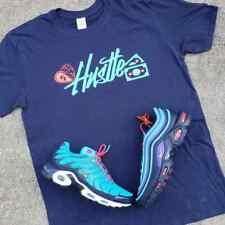 "Nike Air Max Plus Hyper Jade Flash Crimson Obsidian Navy ""Hustle"" SHIRT"