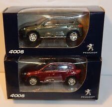 NOREV 3 PULGADAS DE 1/64 PEUGEOT 4008 SUV 2012 REF 314720 & 2 COLORES a elegir