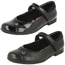 filles CLARKS movello Lo ENF et Junior Cuir Noir ou verni chaussures d'école