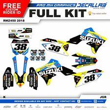 SUZUKI RMZ 450 2018 MX Graphics Decals Stickers Decallab world MXGP NEW Best