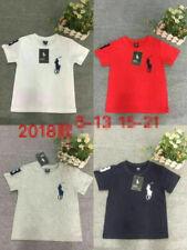 Summer 2-14Y Kids' Boys Girls Sports Short-sleeved T-shirt 4 Color