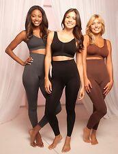 M-Rena Women Slim Tummy Control High Waist Body Shaper Seamless Rayon Leggings