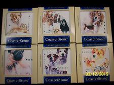 Coasterstone Square Coasters Dogs - Beagle, Cocker, Corgi, Jack Russell, Pug