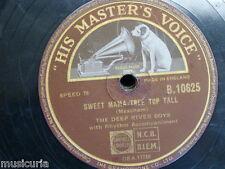 78 rpm THE DEEP RIVER BOYS sweet mama tree top tall / kiss & cuddle polka