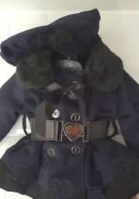 Baby / Girl Navy Blue Winter Coat with Beret Type Hat.