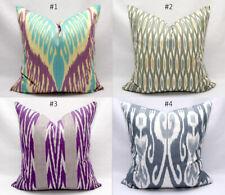 New Uzbek Ikat Pillow Covers Cushions Ikat Purple Turquoise Handmade Decorative