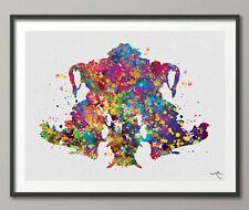 Rorschach Inkblot Test Card 4 PSI Watercolor Print Psychology Psychiatry-1309