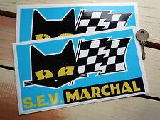 SEV Marchal Cat/Flag Blue Background Stickers 215mm