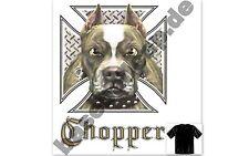 T-Shirt #463 CHOPPER DOG IRON CROSS, Route 66 Biker USA Custombike Hot Rod USA