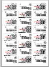 J8159 Étiquettes pour timbre , planche de 24 compatible la poste avery J8159