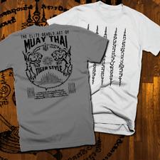 Muay Thai T-Shirt Thai Boxing 2 Sided Print UFC MMA kickbox Martial Tiger style