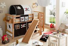 Etagenbett Teilbar Mit Rutschen : Kinderzimmer hochbett spielbett etagenbett buche massiv rutsche